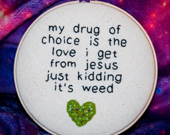 Mary Jane's Love Embroidery - 8 inch hoop