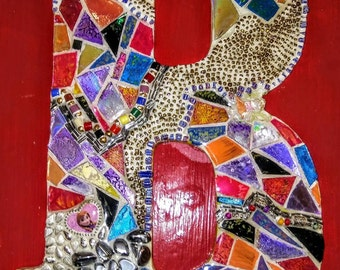 Handmade Mosaic Letter B