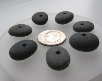 Drilled Lake Superior Basalt Zen Stone Pebble Beads
