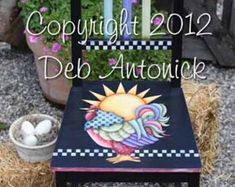 Rise and Shine Chair by Deb Antonick, email pattern packet. Originally published in Paintworks 2012 - Prev. Published!