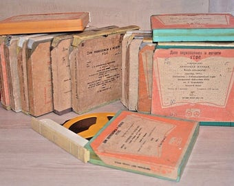 Lot of 15 used reel to reel tapes from USSR.The First Soviet audiobooks.3