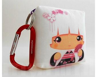 Toy Keychain, Girls Pillow, Geisha Pillow, White Pillow, Kawaii Pillow, Kawaii Toy, Soft Toy, Kawaii Print, Japanese