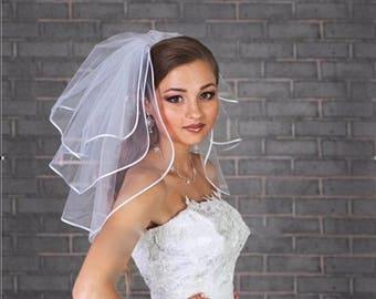 SALE -- Short Wedding Veil, Bridal shower veil,