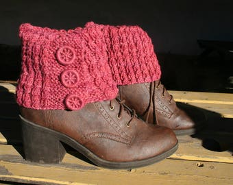 Castlerigg Boot Cuff and Wrist Warmers - Knitting Kit with Dorset buttons