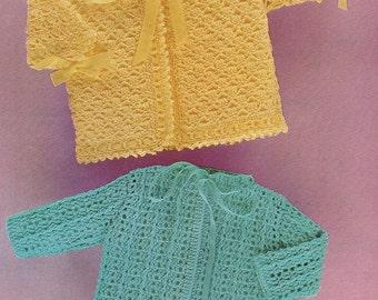 Baby Matinee Coats, Crochet Pattern. PDF Instant Download.
