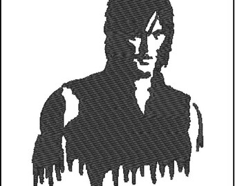 The Walking Dead Daryl Dixon Embroidery Design