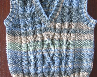 Hand knitted Tank Top / Jumper / Sweater for Age 2 Toddler / Child