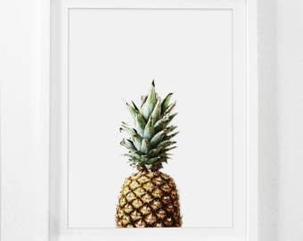 Pineapple Art Print, Framed Pineapple Art, Tropical Art Prints, Pineapple Wall Print, Framed Summer Art, Pineapple Print With Frame