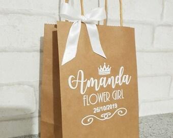 personalised gift bag / bridal gift bag / paper gift bag / wedding / wedding gift bag / gift bag / personalised gift bag