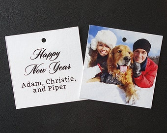 Gift Tags for Christmas Gifts, Wedding Favors, and Holiday Treats (Square Tags)
