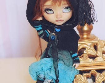 Dress pullip doll dress blythe dall 1/16 bjd doll clothes outfit