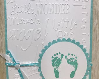 New Baby Card//Expecting Card//Handmade Card