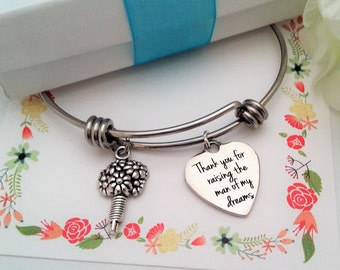 MOTHER OF GROOM Gift From Bride, Mother In Law Gift,Thank you for Raising the Man of my Dreams Bracelet,Mother of Groom Gift  Under 10 Gift