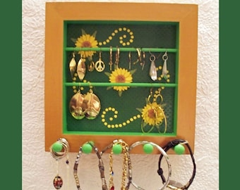 Wall Jewelry Holder, Jewelry Organizer, Jewelry Storage, Jewelry Rack, Jewelry Display, Wall Jewelry Hanger, Unique Gift, Mothers Day
