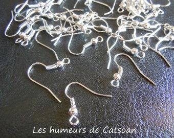 20 hooks for pierced ear / American hook / hook / making earrings