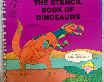 Artistic Stencils, Dinosaur Stencils, Character Stencil, Dinosaur Book, Kids Book Stencils, Craft Book Stencils, Shapes Stencil, Preschool