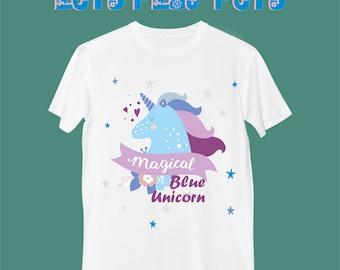 "T-Shirt ""Magical Blue Unicorn"""