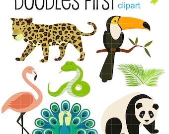 rainforest clipart etsy rh etsy com rainforest clip art animals rainforest clipart pictures