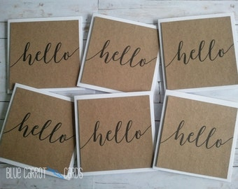 Mini Cards, Hello Cards, Mini Note Cards, Blank Note Cards, Mini Card Sets, Note Card Set, 4 inch x 4 inch (10cm x 10cm) Cards