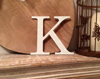 Giant Wooden Letter - K - Times Roman Font, 50cm high, 20 inch, any colour, wall letter, wall decor - various colours & finishes