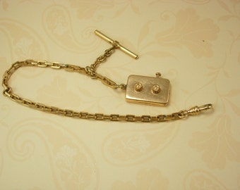 Antique Victorian Watch chain Golf Stroke counter FOB that really works  Rose gold