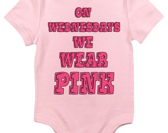 Baby Bodysuit - On Wednesdays We Wear Pink Cute Baby Clothes