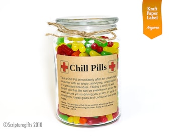 Funniest Chill Pill Self Adhesive Labels (ANYONE Theme)