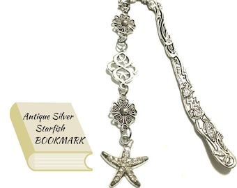 Starfish Antique Silver Bookmark, Treasured Keepsake Gift, Bookworm Gift,  Book lovers Gift,  Anytime gift,  Stylish on trend Gift