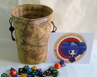 "Big dice bag Type ""Middle Earth Map: Lord of the Rings"""