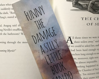 Funny The Damage Harry Potter Bookmark