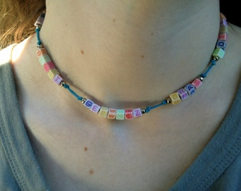 GEEWHIZ Old-Fashioned Swear Word Necklace