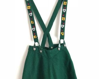 Green Suspender Skirt