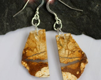 Albino Earth - Natural Howlite Sterling Silver Earrings