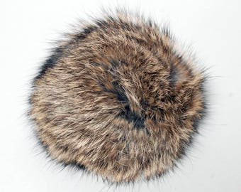 Transylvanian Rabbit Fox Sheepskin Fur Poofs Handbag Shoe Purse Hat Charms, Asst'd Hides