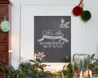 it's the most wonderful time of the year, Christmas print