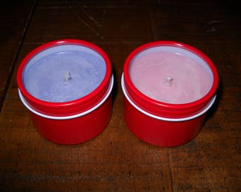 4 oz Soy Candle In Cute See-Through Tins!!!
