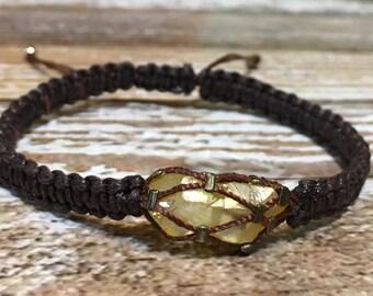 Citrine Jewelry / Citrine Bracelet / Chakra Bracelet / Healing Crystal Jewelry / Raw Crystal Jewelry