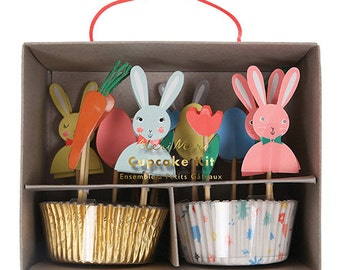 Easter gifts and decorations etsy easter bunnies cupcake kit meri meri easter cupcake kit includes 24 cupcake liners in 2 negle Gallery