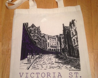 Screen Printed Tote Bag of Victoria St