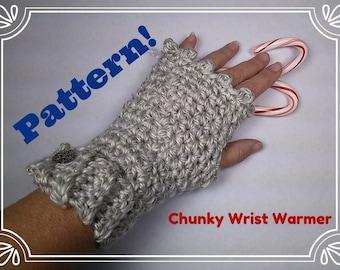 Chunky Wrist Warmers ~ Crochet PATTERN - Design by kre8ivLizard - instant download