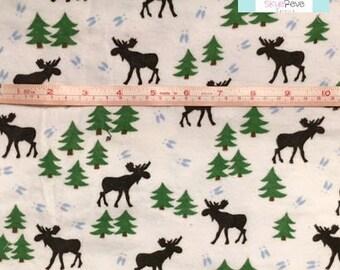 lLAST YARD, Moose FLANNEL Fabric, 1 yard
