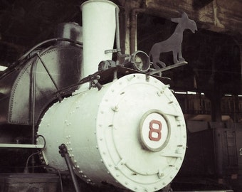 Locomotive Art Print, Train Wall Art, Engine 8, Donkey Print