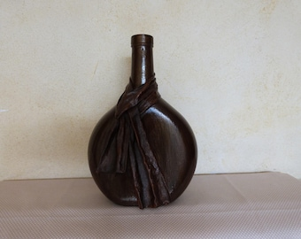 Vase: bottle draped