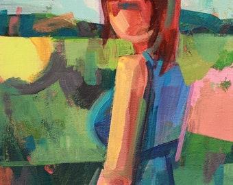 "Elena"" Original acrylic painting on canvas 12"" x 16"""