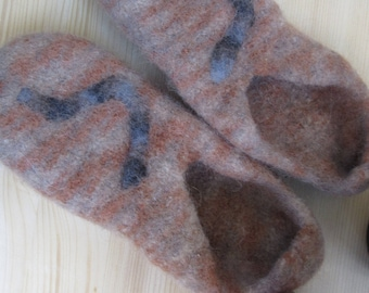 Knit Felted Slippers Gr. 38/39 SALE!!!