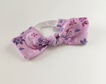 Infant Headband - Purple Petals