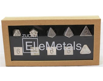 Zucati Dice EleMetal™ Sterling Silver Polyhedral Set of 10