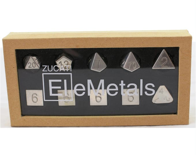 Featured listing image: Zucati Dice EleMetal™ Sterling Silver Polyhedral Set of 10