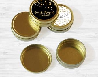 Wedding Favor Tins - Gold Wedding Favor Tins - Mint Tin - Wedding Favors - Gold Mint Tin Favors - Gold Tin Mints - Wedding Decor