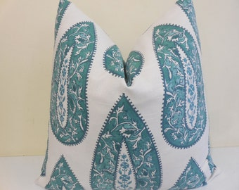 Lacefield Pillow in Mist - Decorative Pillow Cover - Euro Sham -Lacefield Cushion -18 x 18, 20 x 20, 22 x 22, 24 x 24, 26 x 26